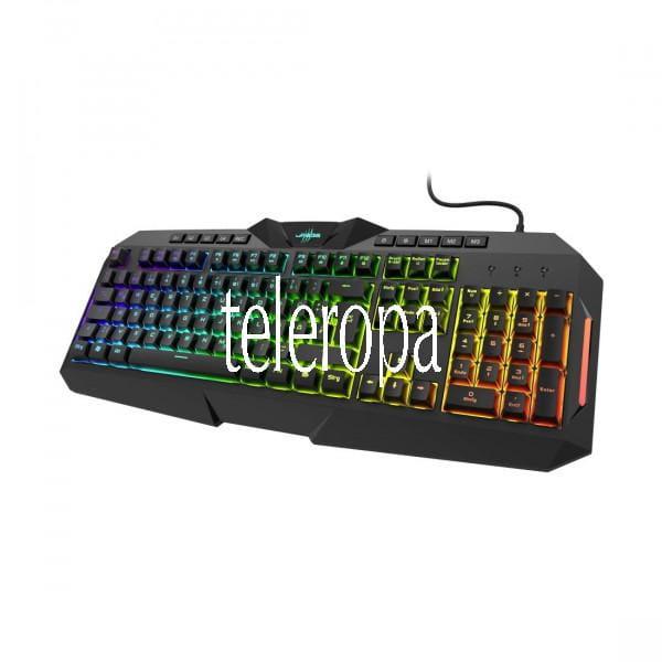 """Gaming-Keyboard """"Exodus 700 Semi-Mechanical"""" PC-Tastatur (RGB-Farben, Night-Vision-Mode, Noise-React"""