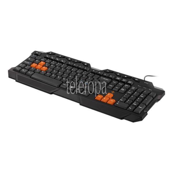 DELTACO GAMING Tastatur 105 Tasten nord. Layout USB und PS / 2 schwarz / orange