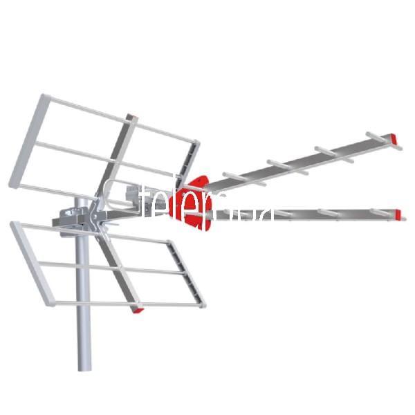 Eye UHF Antenne terrestrische Außenantenne (mit 11,5dB Gewinn, LTE / 5G Filter, DVB-T/DVB-T2, Wetter