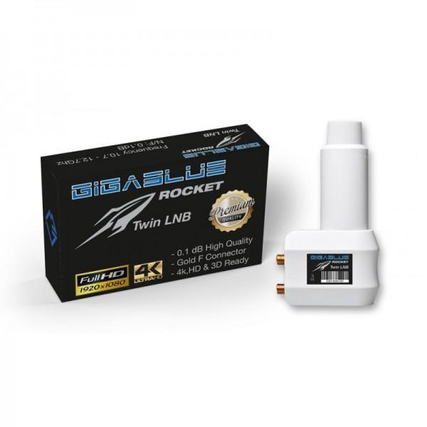 GigaBlue Rocket Twin LNB SAT UHD/4K , full HD, vergoldete Anschlüsse