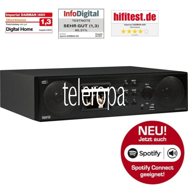 DABMAN i450 Küchenunterbauradio, Internet- DAB+ & UKW-Radio, Spotify Connect