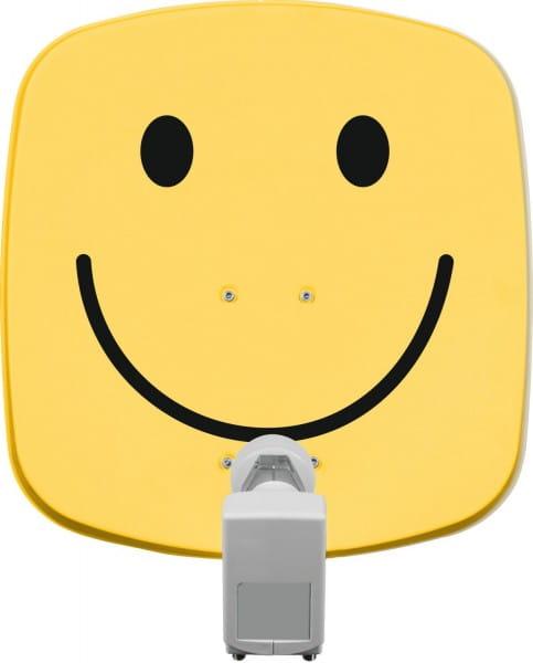 DIGIDISH 45 inkl. Universal-Twin-LNB, smiley-gelb Bild1