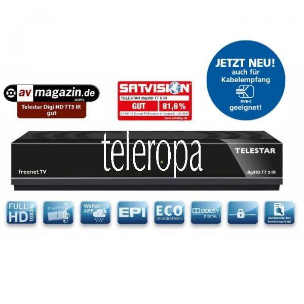 TELESTAR digiHD TT 5 IR DVB-T2 HDTV-Receiver inkl. freenet TV Bild1