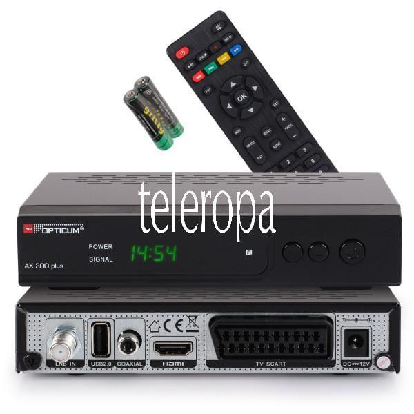 HD AX300 Plus Satellitenreceiver Full HD 1080p,HDMI,USB,S/PDIF,Scart