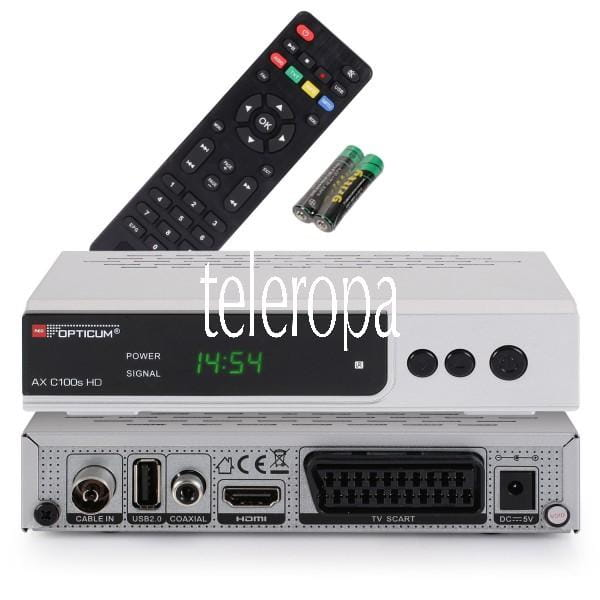 AX C 100S HD PVR HDTV, DVB-C, HDMI, SCART, USB , PVR Ready