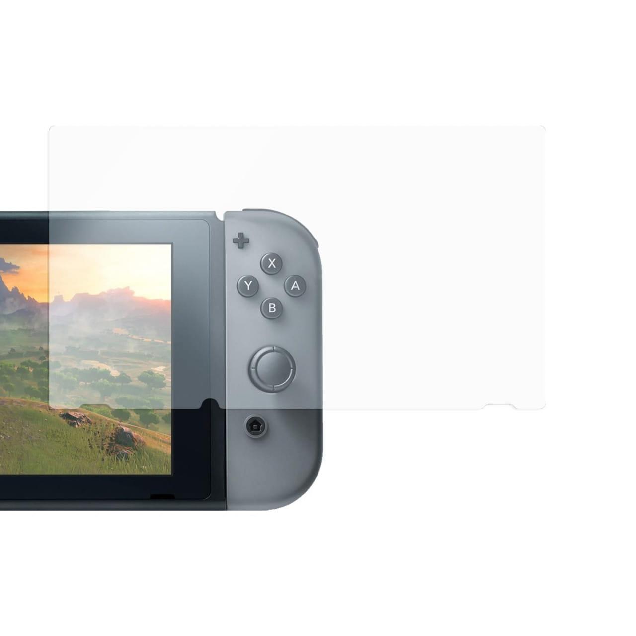 Displayschutzfolie für Nintendo Switch (9H Glas kratzfest glasklar)