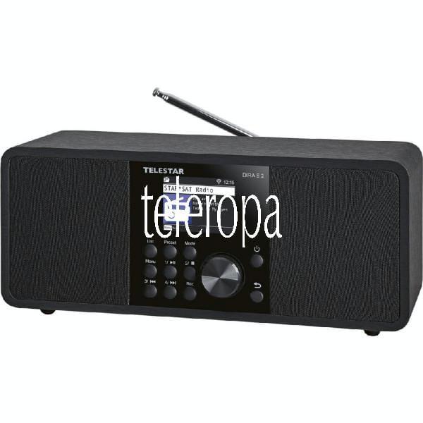DIRA S 2 Multifunktions-Stereoradio (Digiradio, Hybridradio, DAB+/UKW, USB Musikplayer, UPnP, DLNA u