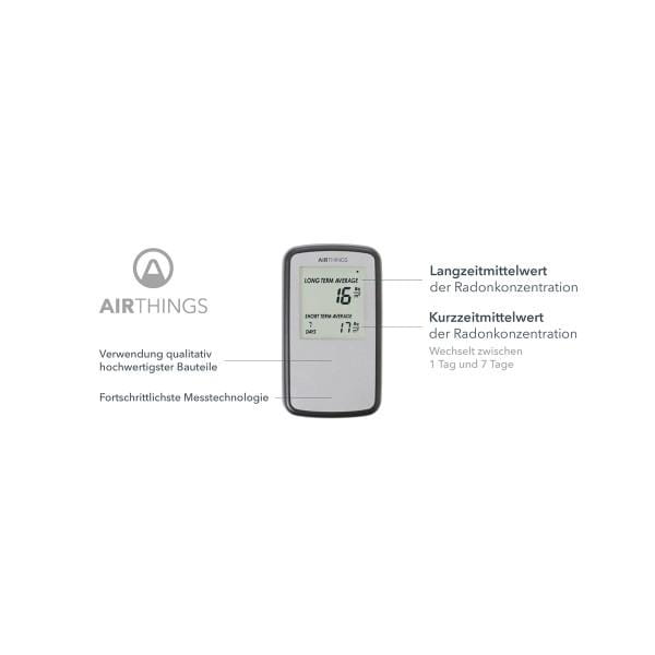 AIRTHINGS Home Digital Radon Detector / Messgerät mit Display Bild1