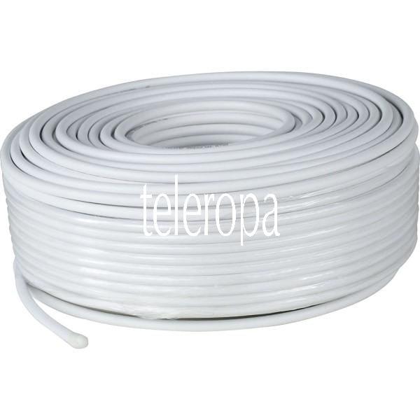 Antennenkabel 110dB, 50 Meter Ring, weiß