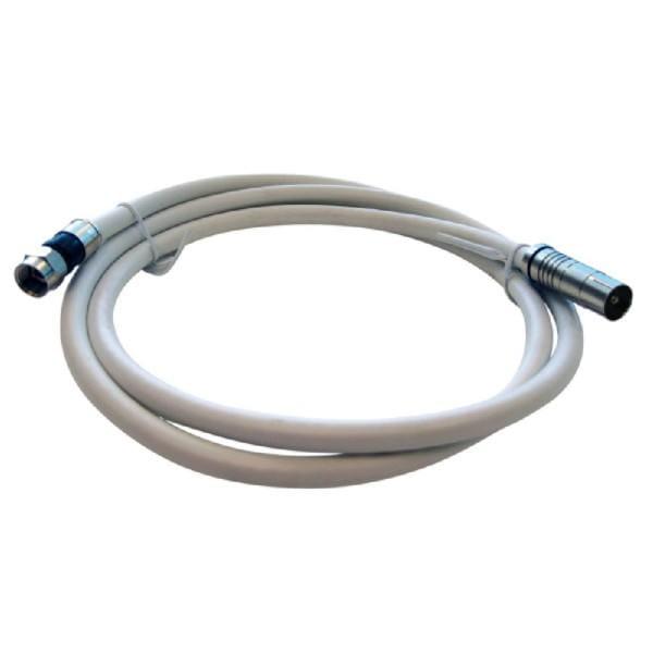 AKSS 150 L Anschlusskabel (F-Stecker / IEC-Stecker, 1,5 m, PVR, 3-fach Geschirmt, Koaxial-Adapterkab